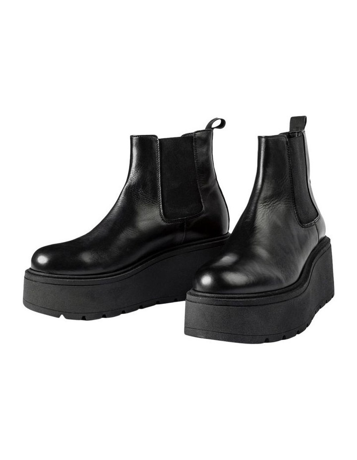 Fonze Black Wedge Boots image 4