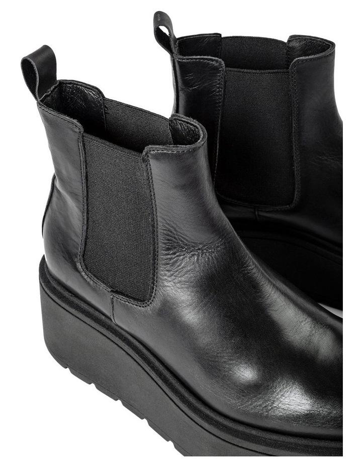 Fonze Black Wedge Boots image 5