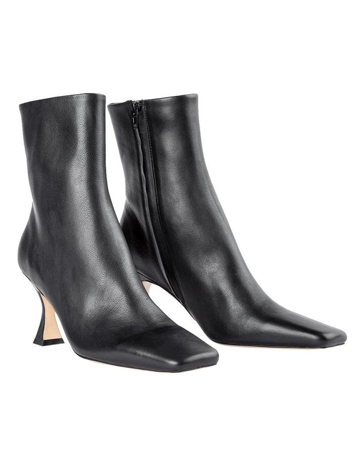 Foxxe Black Capretto Ankle Boots image 2