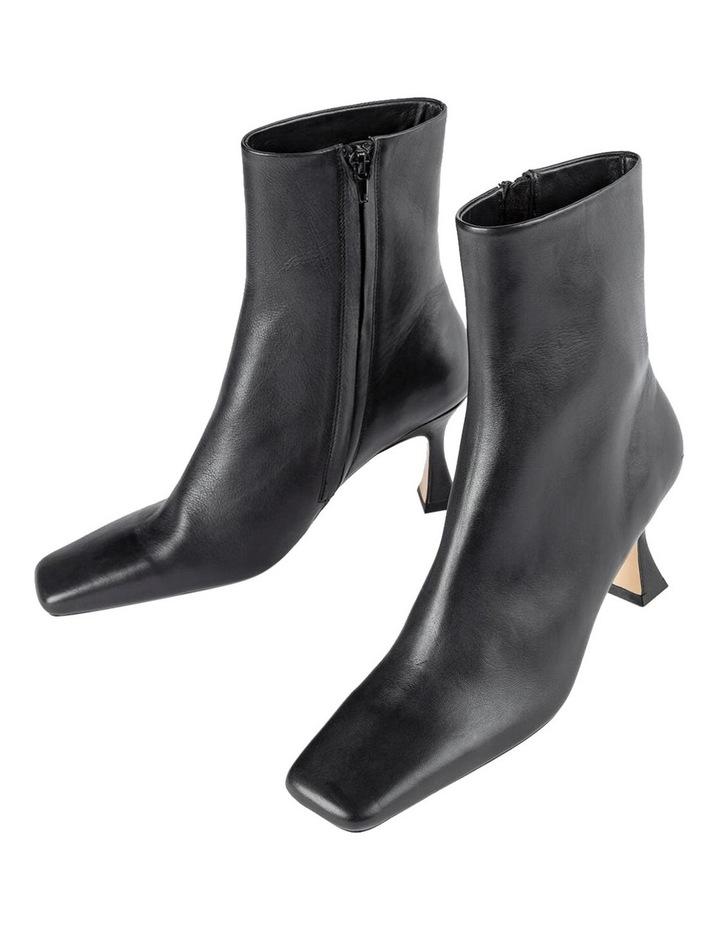 Foxxe Black Capretto Ankle Boots image 3