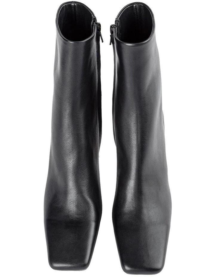 Foxxe Black Capretto Ankle Boots image 4