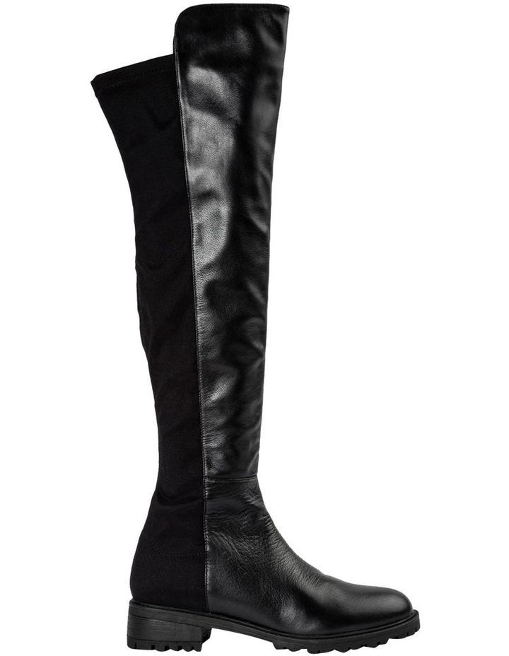 Presto Black Luxe/Blk Micro Stretch Long Boots image 1