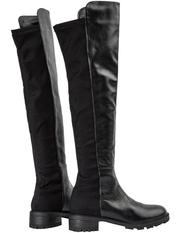 Presto Black Luxe/Blk Micro Stretch Long Boots image 4