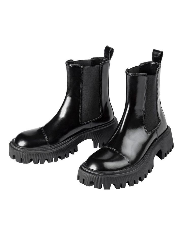 Savant Black Hi Shine Ankle Boots image 4