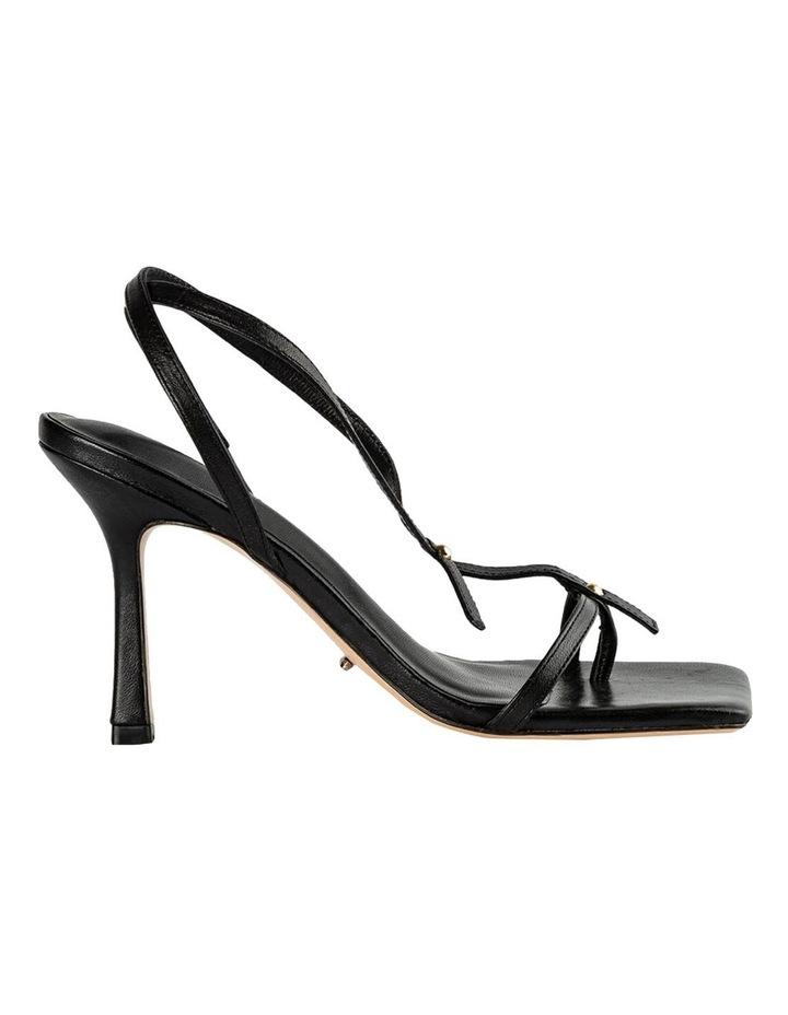 Lilly Black Nappa Heels image 1