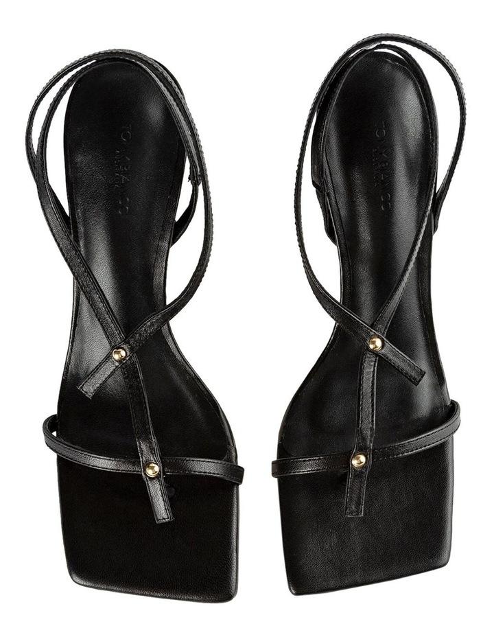 Lilly Black Nappa Heels image 6