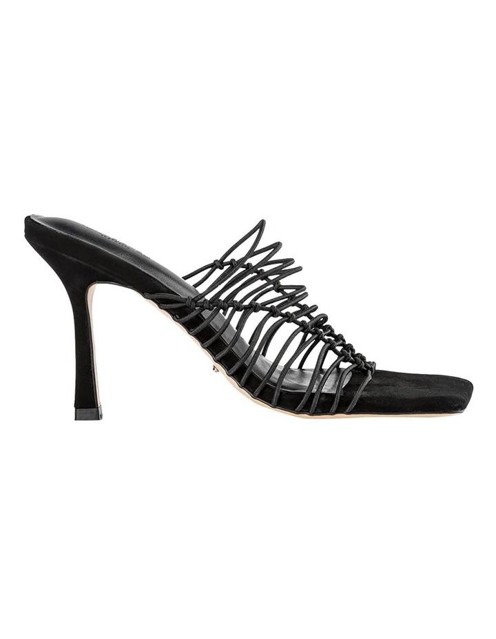 Lynx Black Elastic Heels image 1