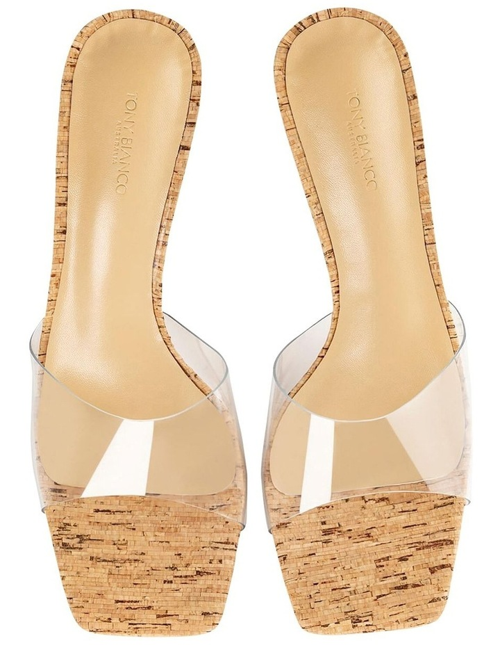 Fame Clear Vinylite/Cork Heels image 3