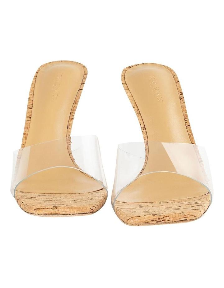 Fame Clear Vinylite/Cork Heels image 4