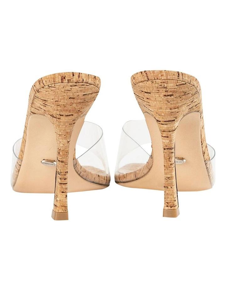 Fame Clear Vinylite/Cork Heels image 5