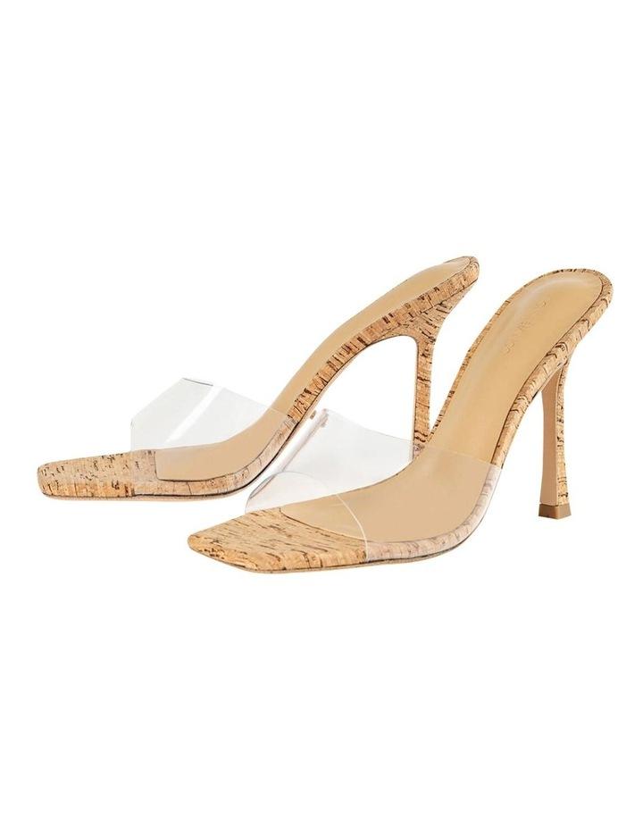 Fame Clear Vinylite/Cork Heels image 6