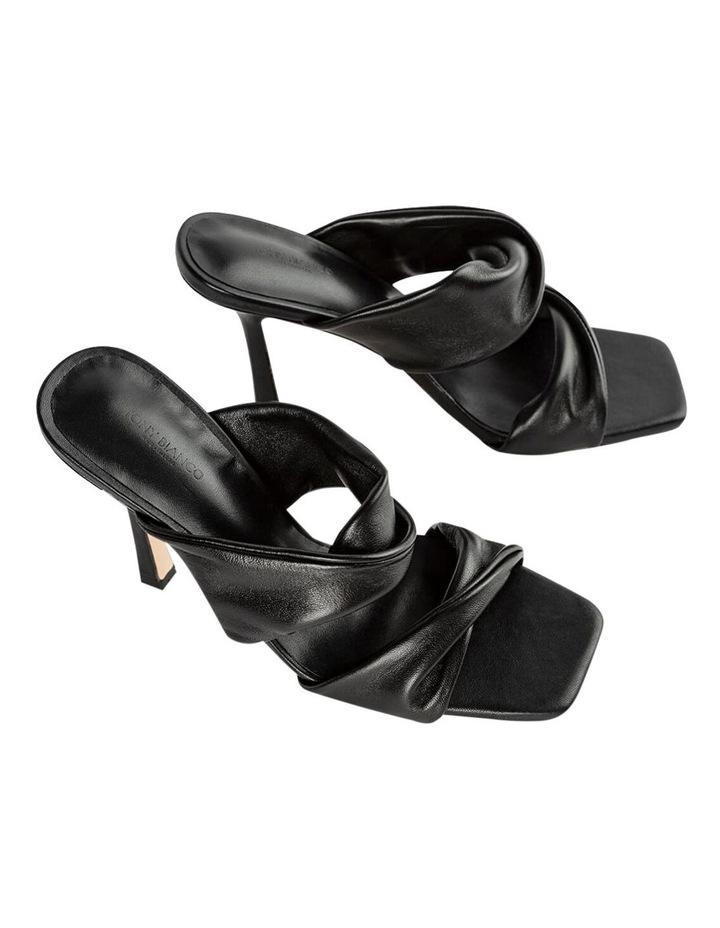 Felipe Black Nappa Heels image 3