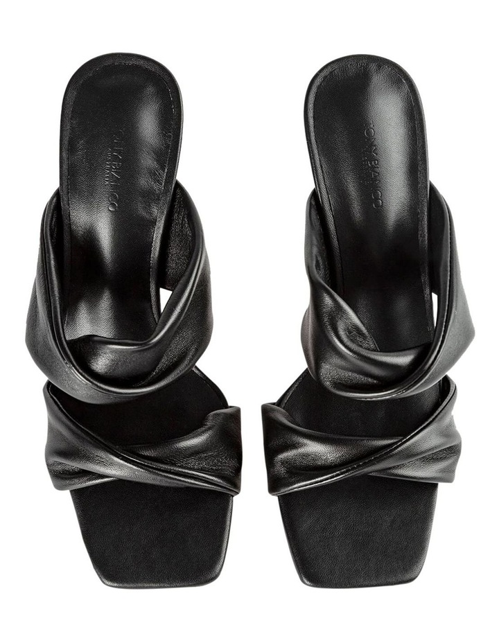 Felipe Black Nappa Heels image 6