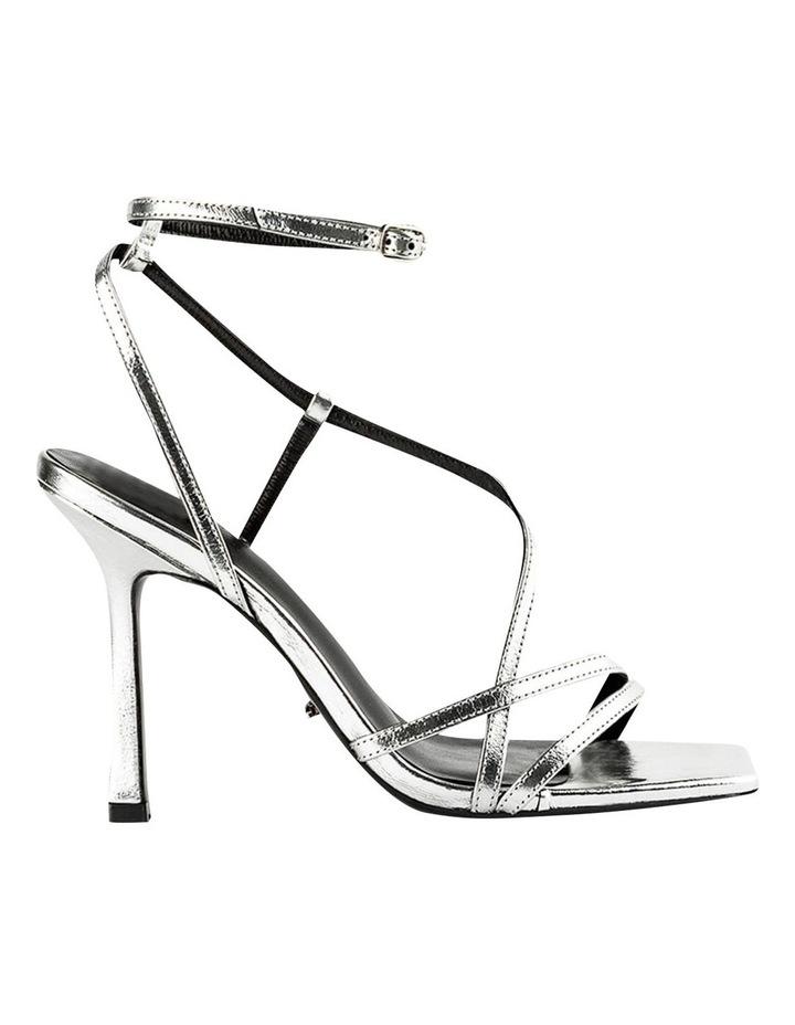 Franci Silver Foil Heels image 1