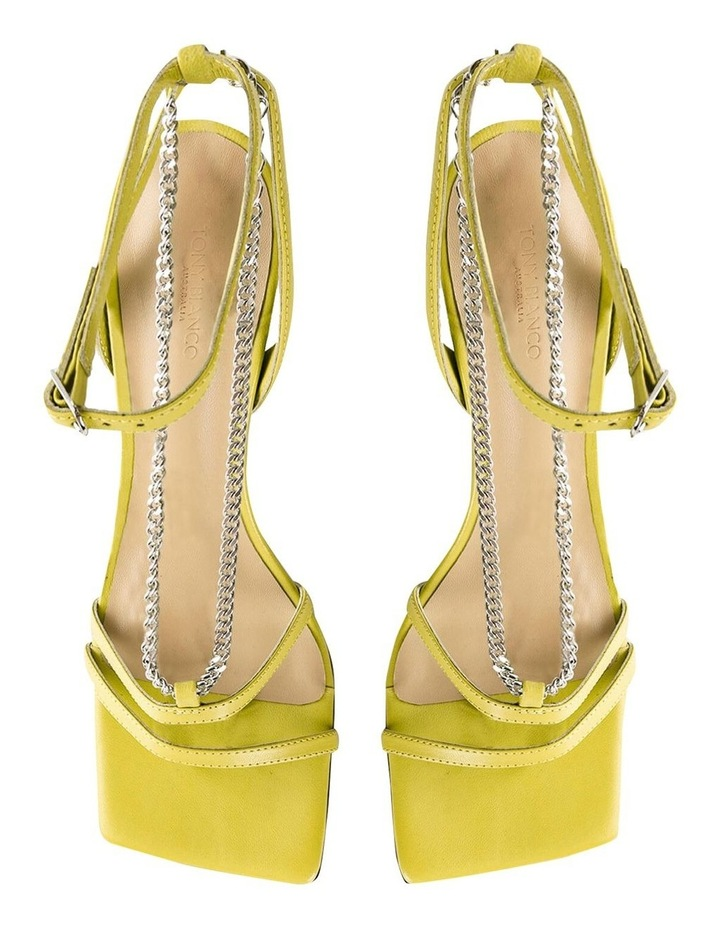 Lazaar Yellow Nappa Heels image 6
