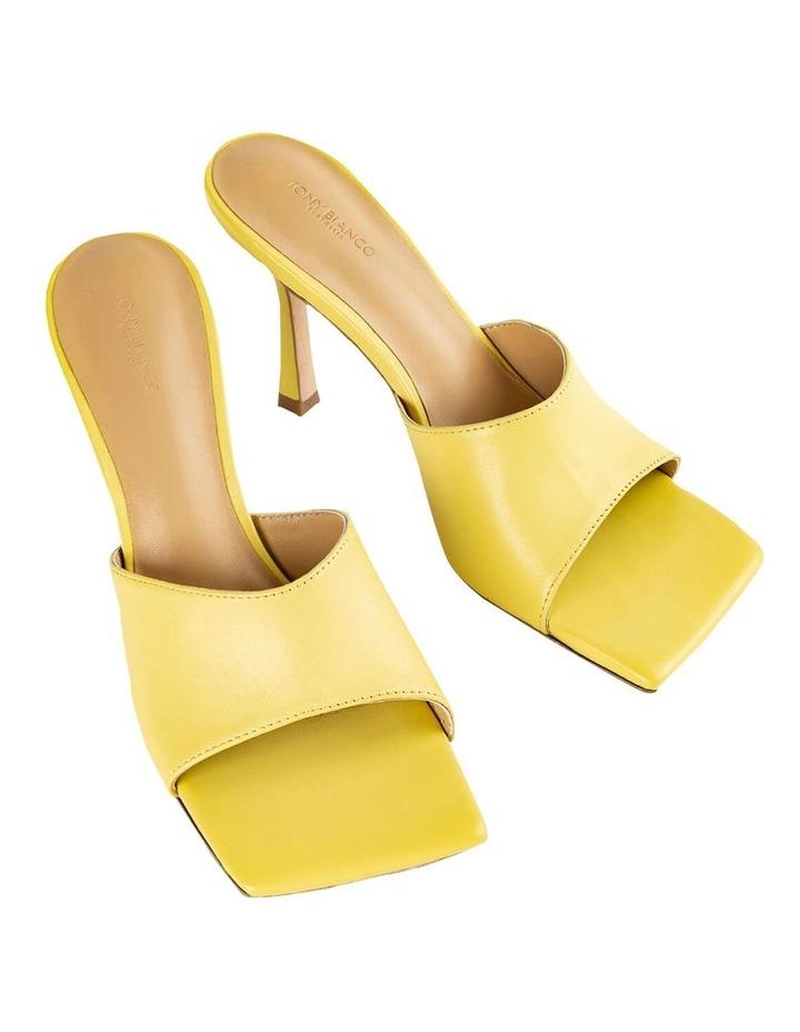 Lex Yellow Nappa Heels image 2