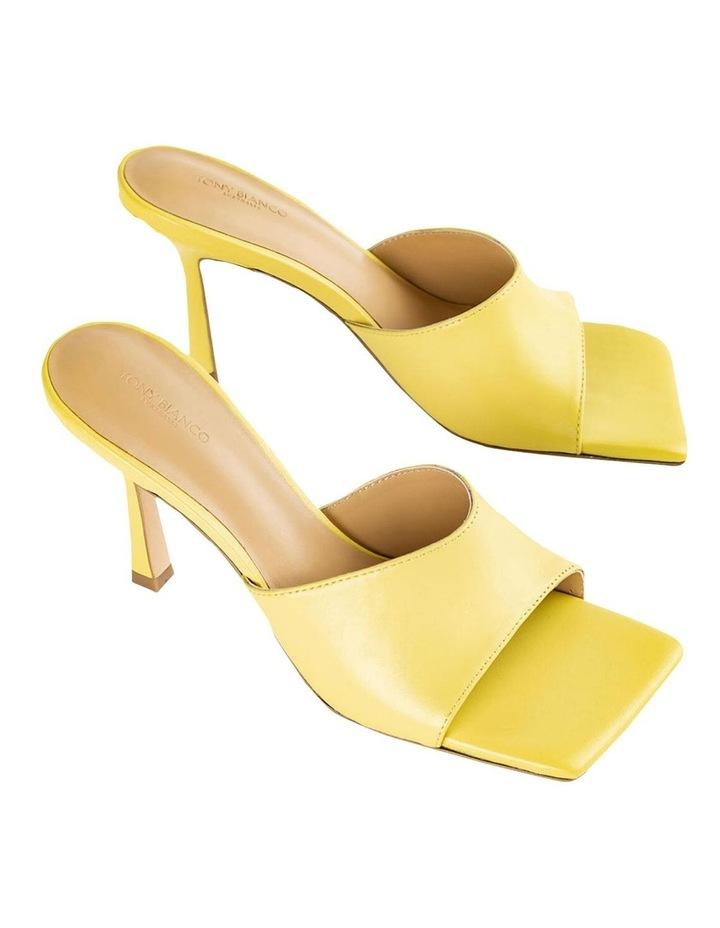 Lex Yellow Nappa Heels image 3