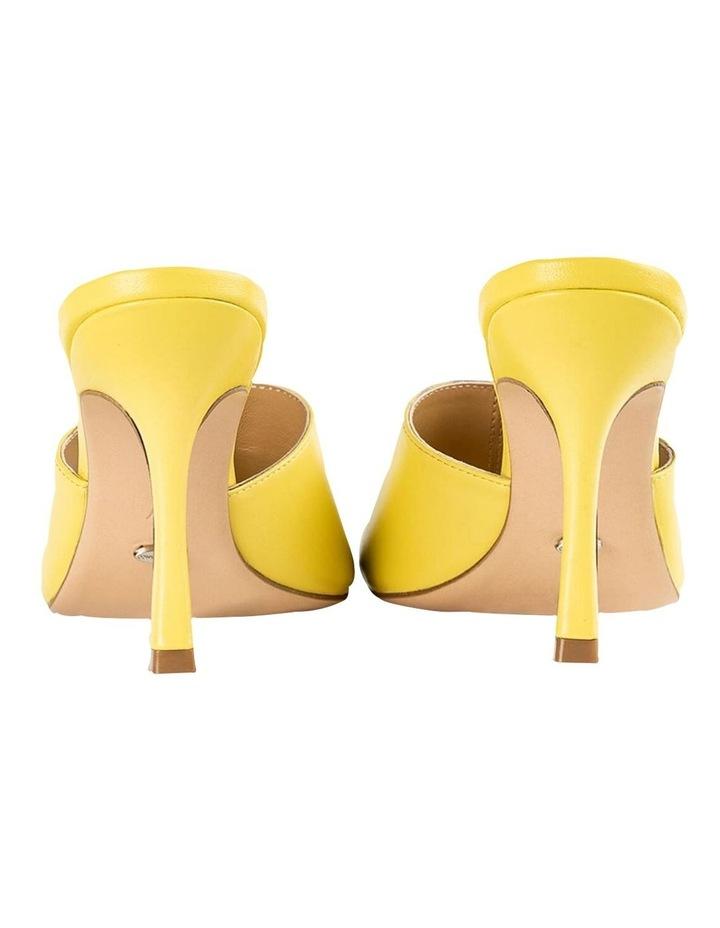 Lex Yellow Nappa Heels image 4