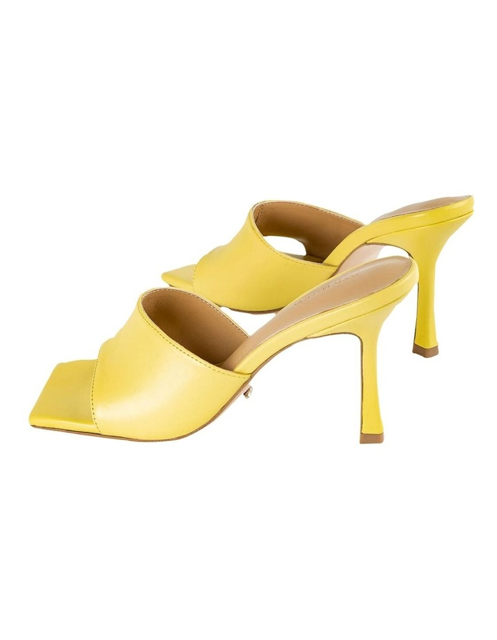 Lex Yellow Nappa Heels image 5