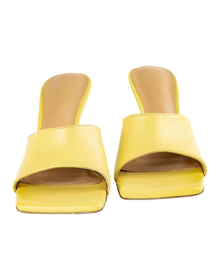 Lex Yellow Nappa Heels image 6