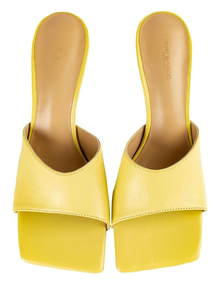 Lex Yellow Nappa Heels image 7