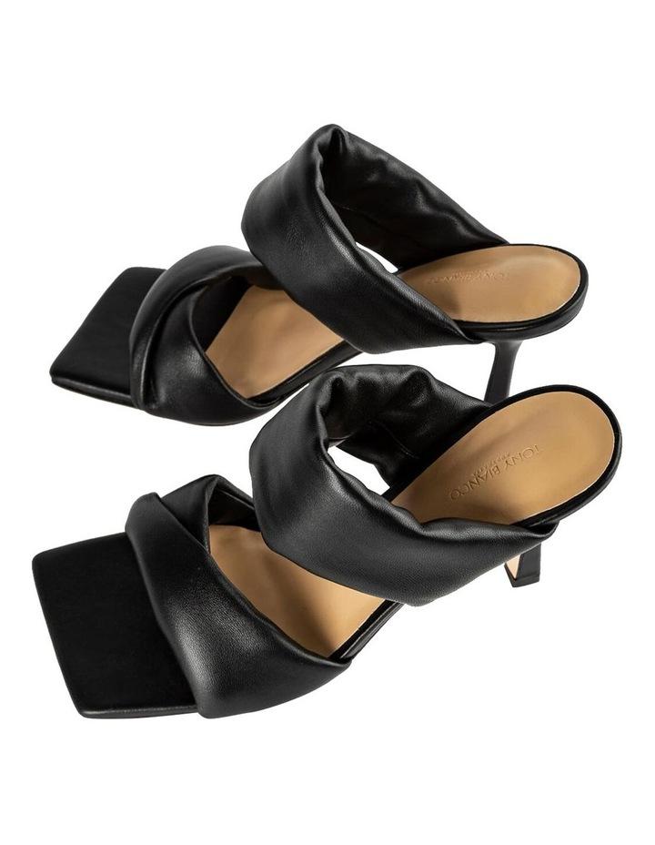 Lucy Black Nappa Heels image 5