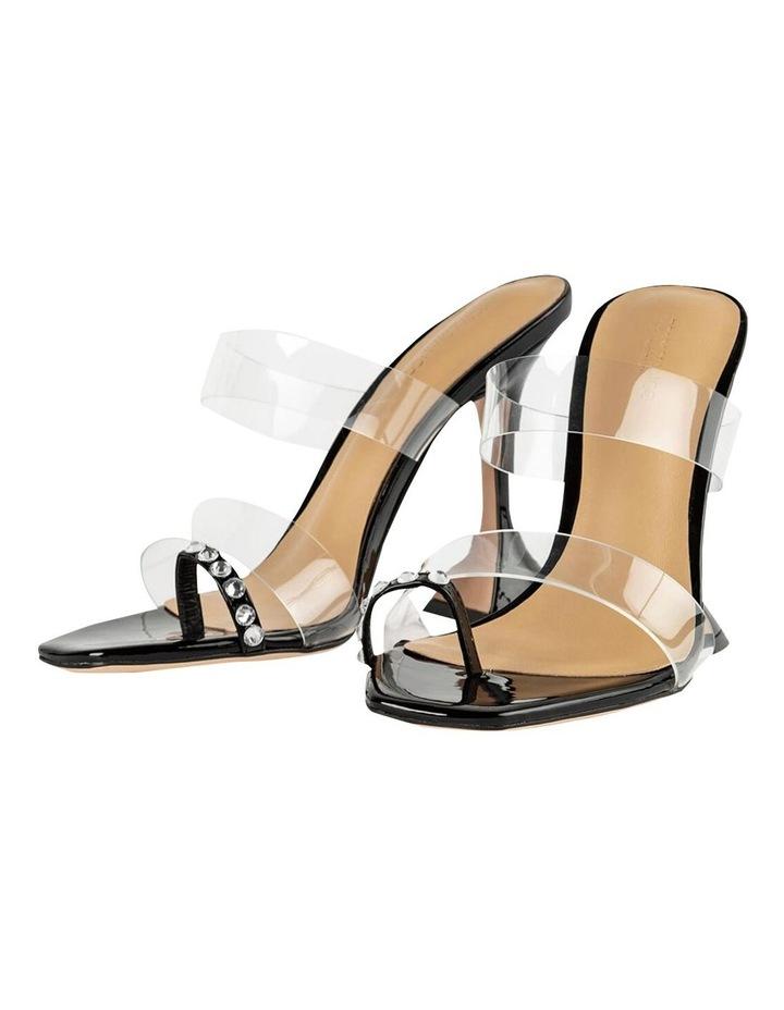 Saffron Clear Vinylite/Black Patent Heels image 2