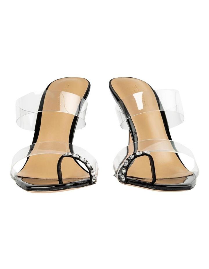 Saffron Clear Vinylite/Black Patent Heels image 6