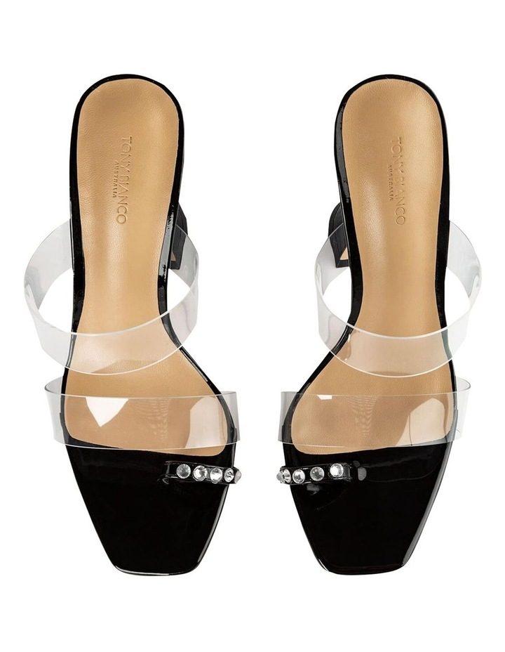 Saffron Clear Vinylite/Black Patent Heels image 7