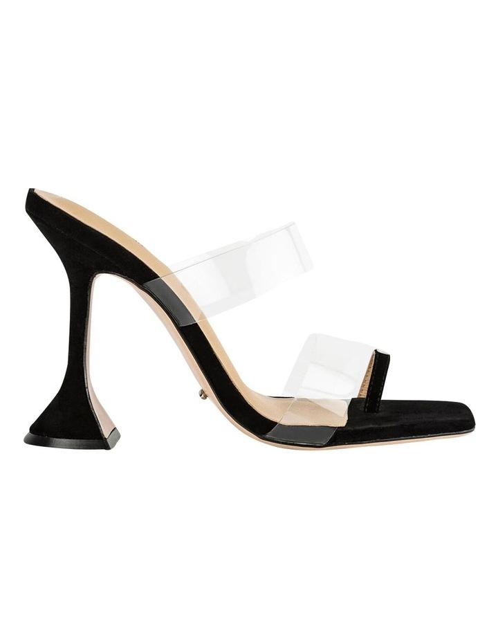 Saffron Clear Vinylite/Black Suede Heels image 1
