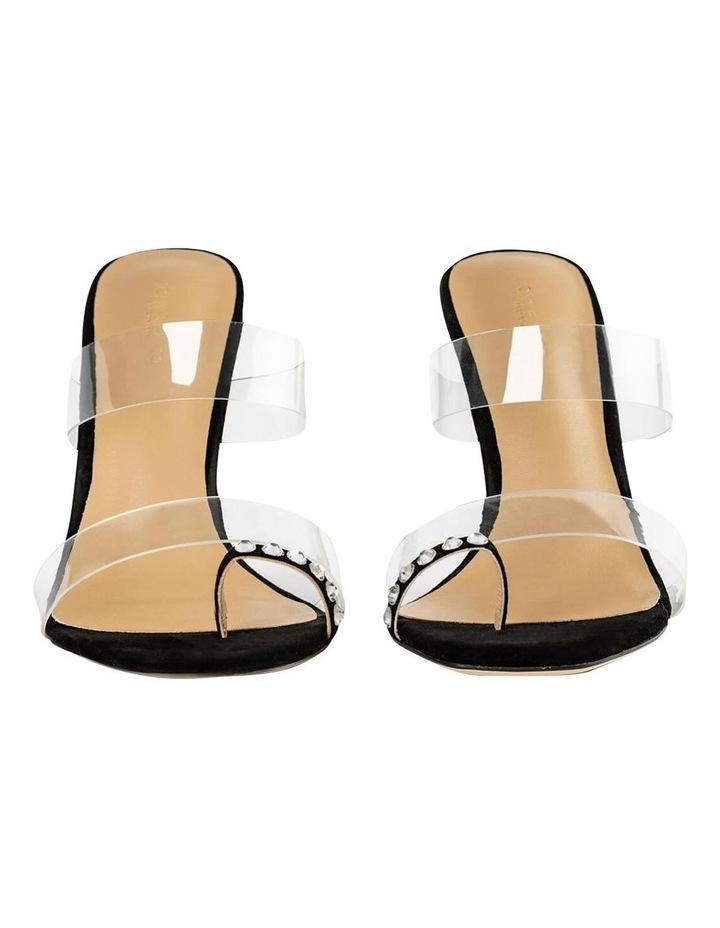 Saffron Clear Vinylite/Black Suede Heels image 3