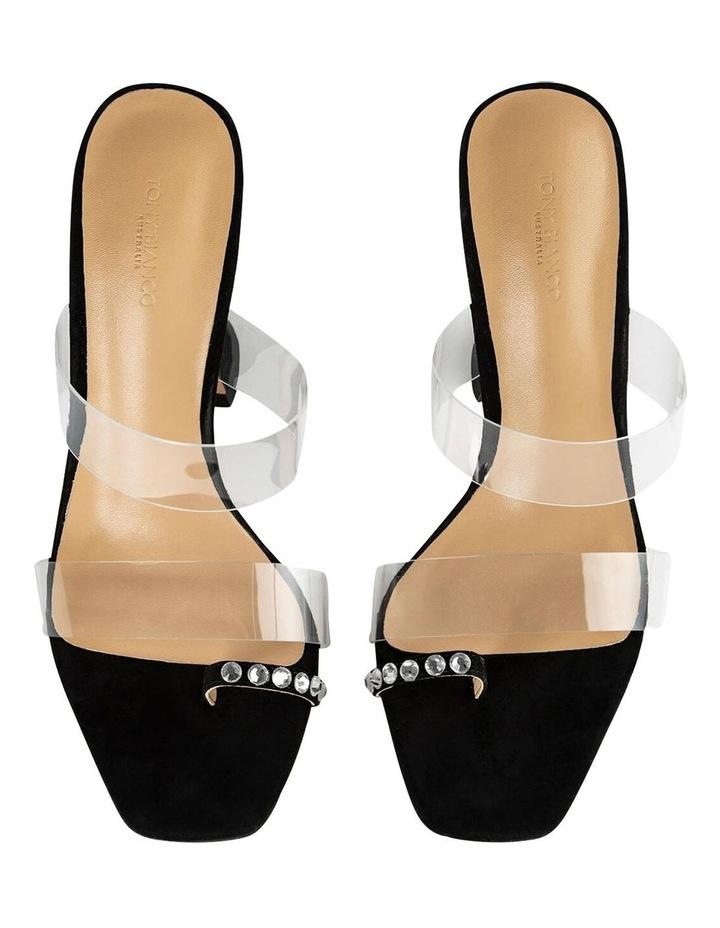 Saffron Clear Vinylite/Black Suede Heels image 4