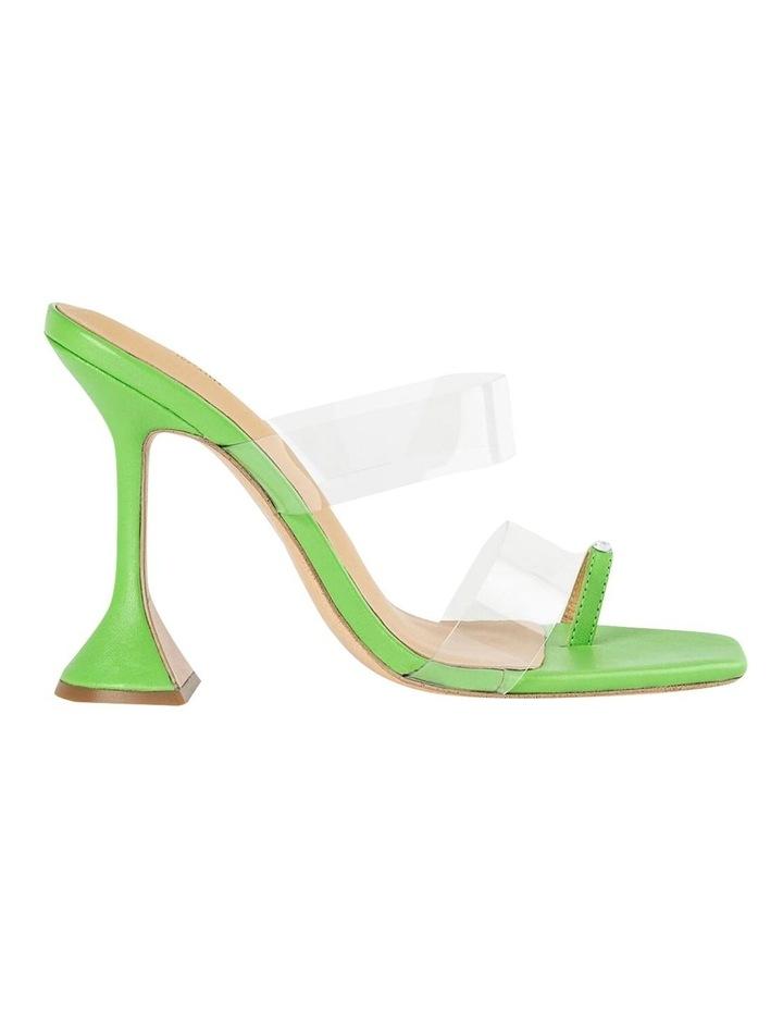 Saffron Clear Vinylite/Lime Nappa Heels image 1