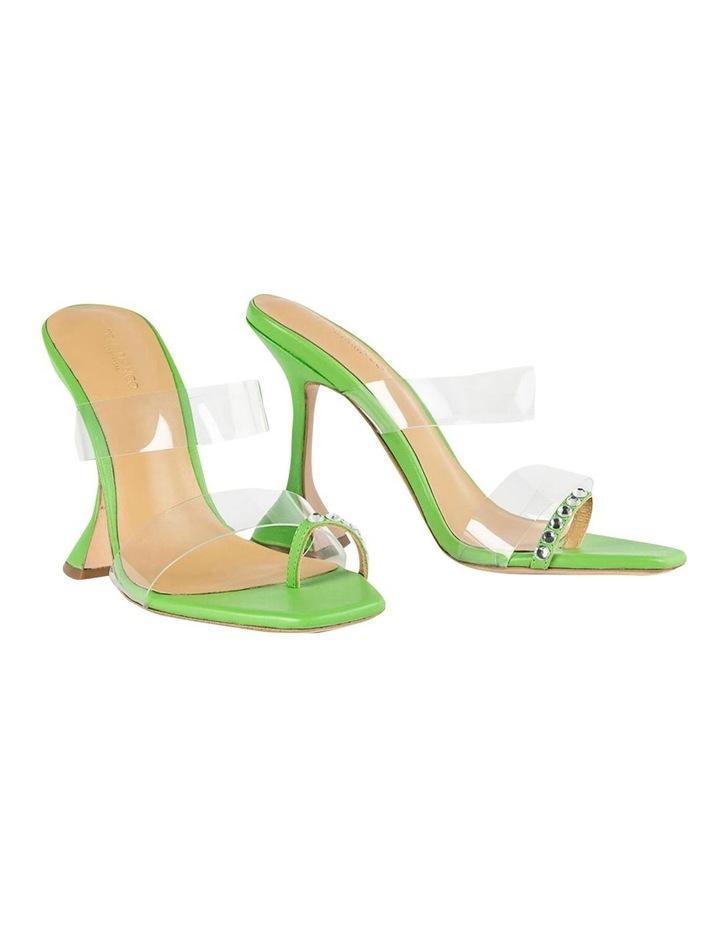 Saffron Clear Vinylite/Lime Nappa Heels image 2