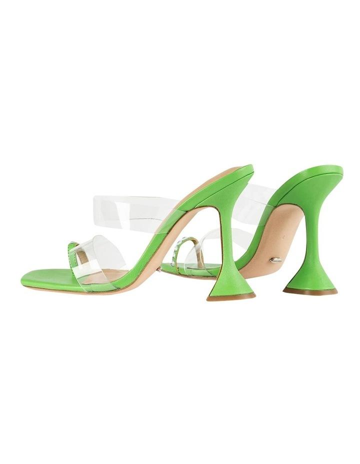 Saffron Clear Vinylite/Lime Nappa Heels image 4