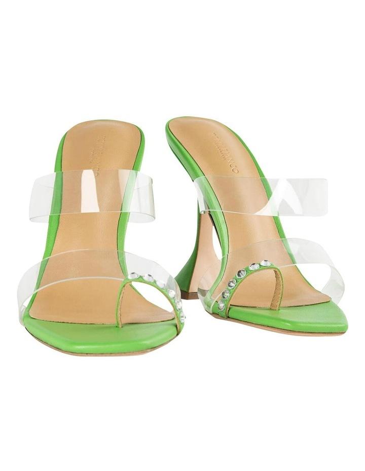 Saffron Clear Vinylite/Lime Nappa Heels image 5