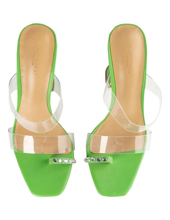 Saffron Clear Vinylite/Lime Nappa Heels image 6
