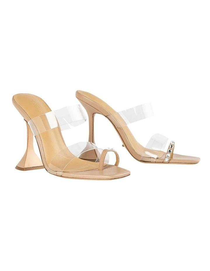 Saffron Clear Vinylite/Skin Nappa Heels image 2
