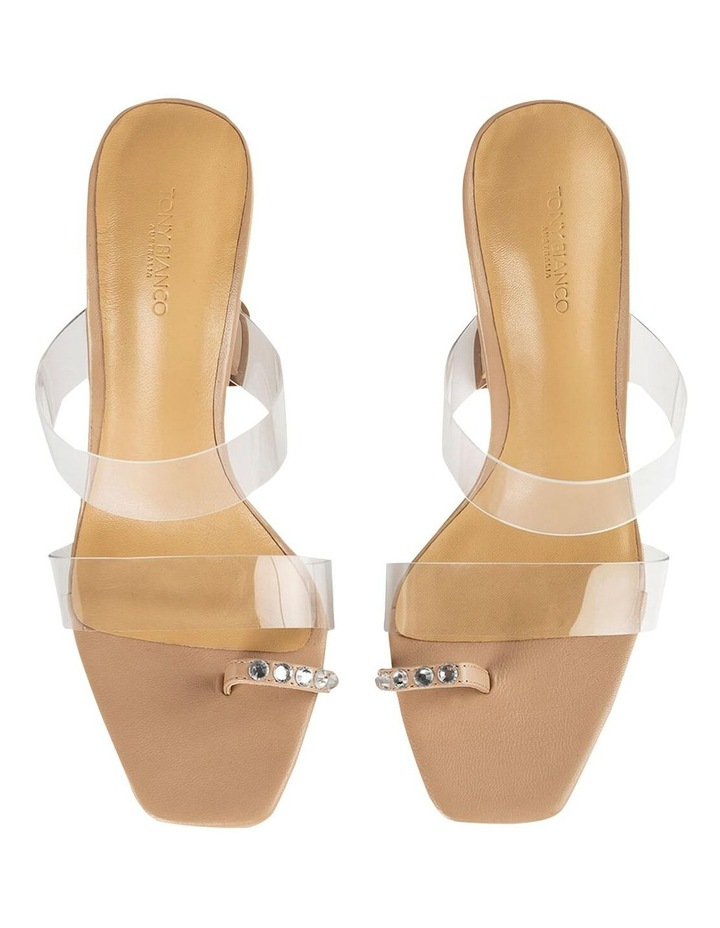 Saffron Clear Vinylite/Skin Nappa Heels image 5