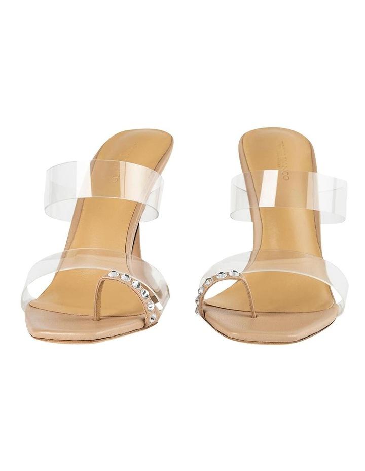 Saffron Clear Vinylite/Skin Nappa Heels image 6