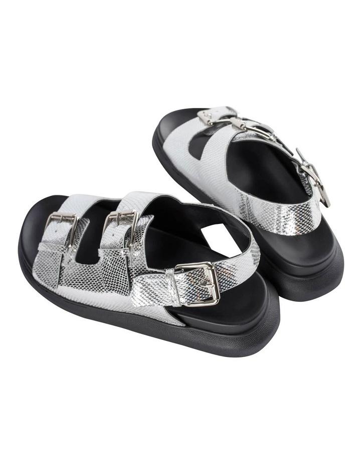 Maxie Silver Lizard Sandals image 4