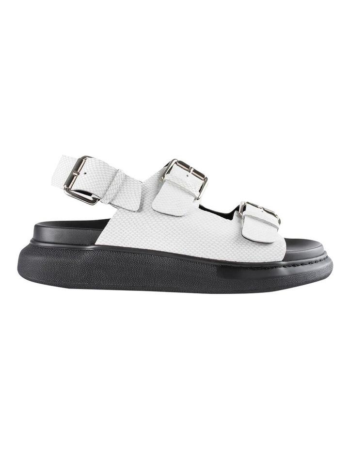 Maxie White Lizard Sandals image 1