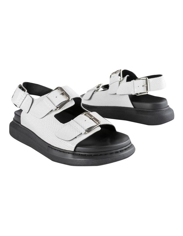 Maxie White Lizard Sandals image 4