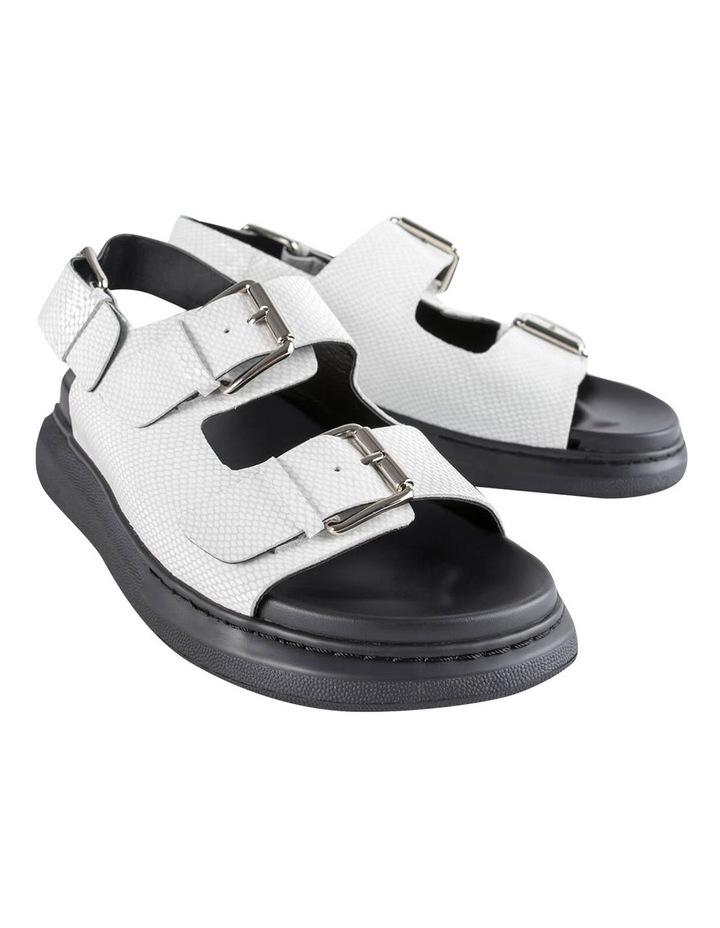 Maxie White Lizard Sandals image 5