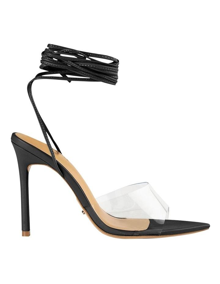 Mistique Clear Vinylite/Black Capretto Heels image 1