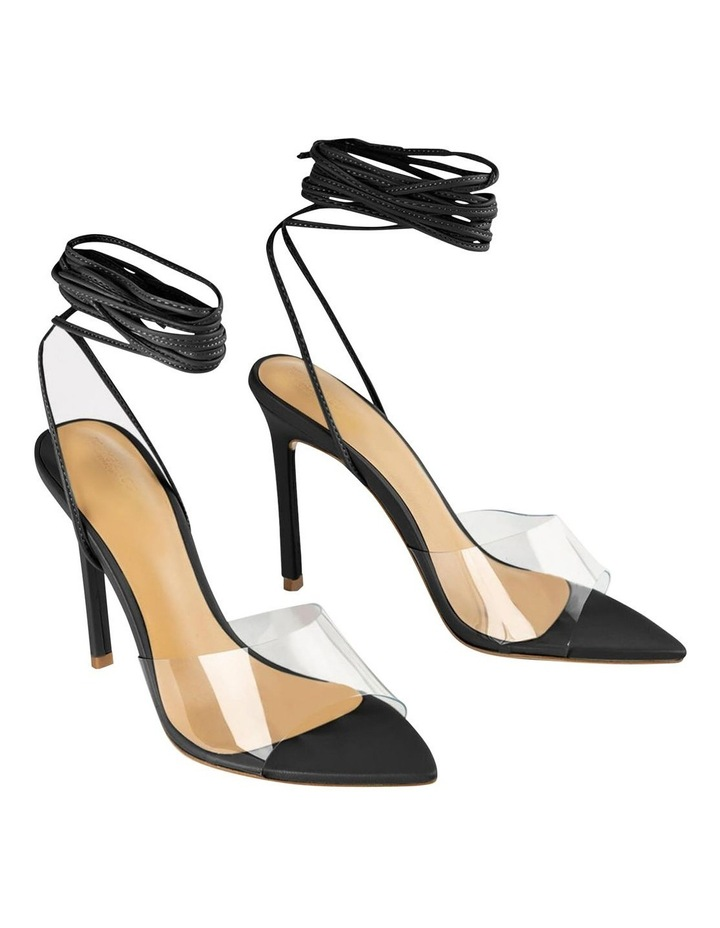 Mistique Clear Vinylite/Black Capretto Heels image 2