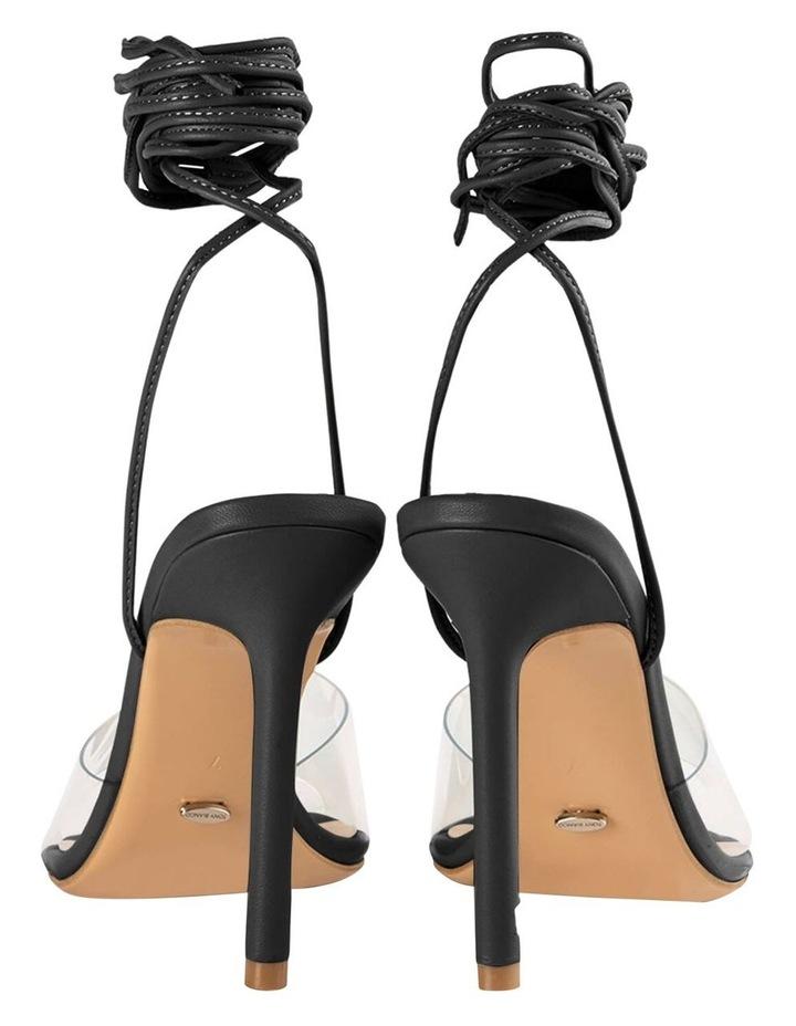 Mistique Clear Vinylite/Black Capretto Heels image 3