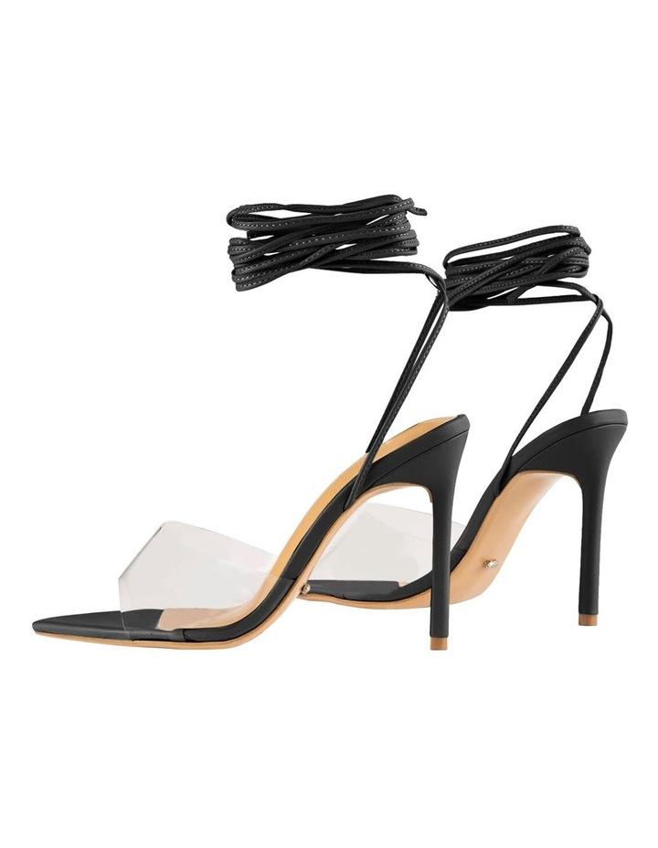 Mistique Clear Vinylite/Black Capretto Heels image 4