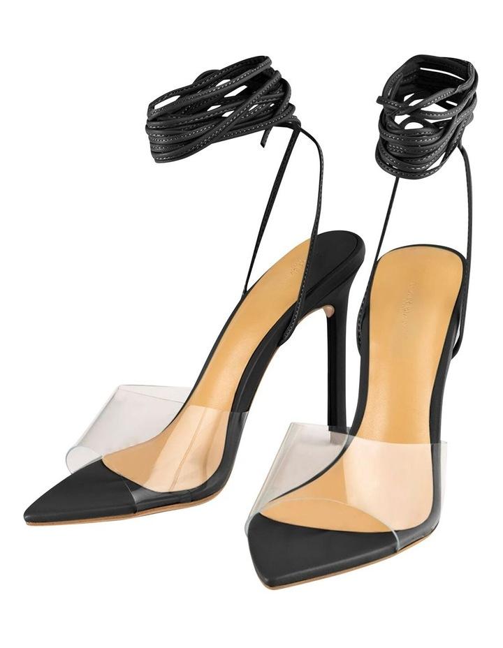 Mistique Clear Vinylite/Black Capretto Heels image 5