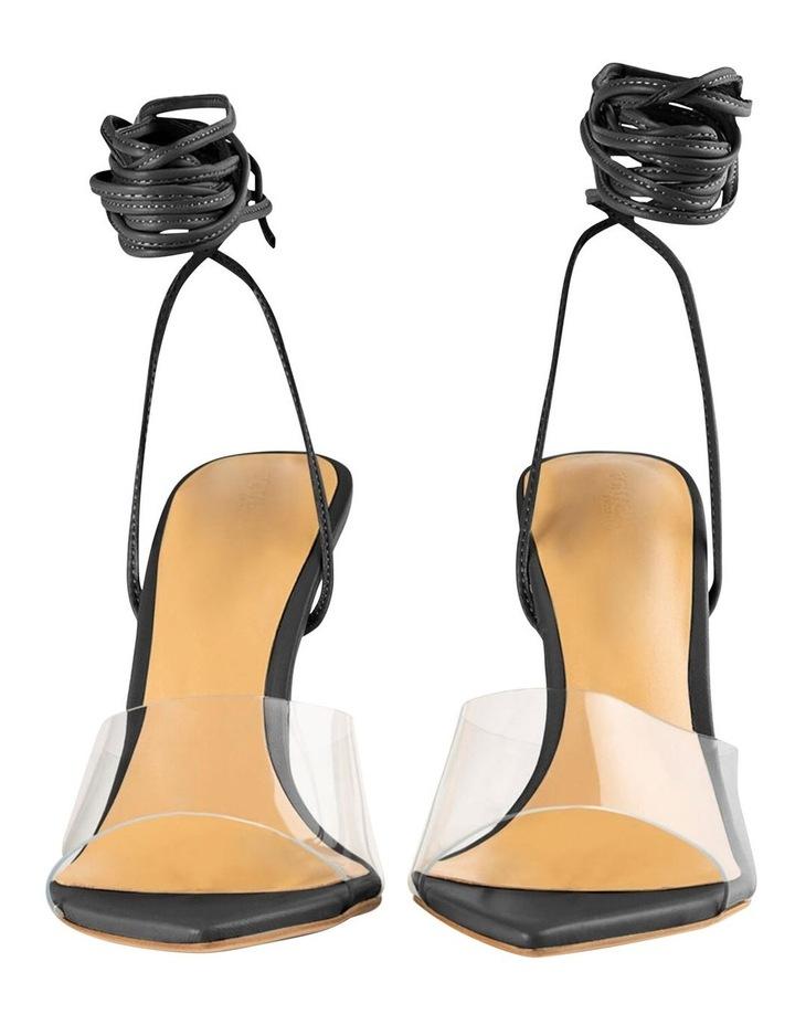 Mistique Clear Vinylite/Black Capretto Heels image 6